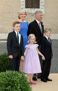 Wedding of Prince Amedeo the King and Queen's children