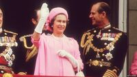 Elizabeth at her Silver Jubilee