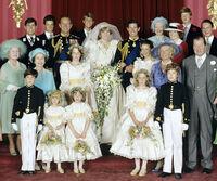 Diana and Charles Family Wedding Photo