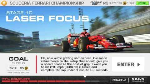 Real Racing 3 Scuderia Ferrari Championship Stage 10 Goal 3