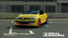 Yellow Megane RS 275 Trophy-R