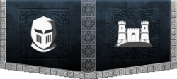 The White Knights banner