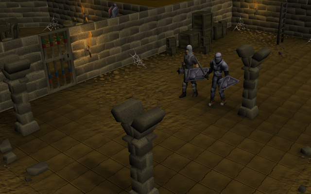 File:THe second picture of the guards standing down the basement of the Draynor Manor.png