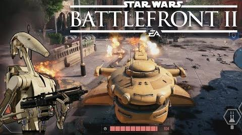 Star Wars Battlefront 2 Gameplay Battle of Theed Droid Gameplay (Battlefront 2 B2 Battle Droid)