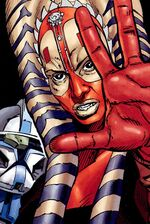 Shaak Ti uses the Force