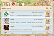 Info menu favors