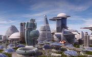 Futuristic city high resolu