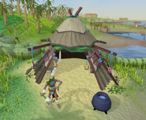 Papa Mambo's hut