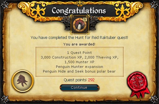 Hunt for Red Raktuber reward