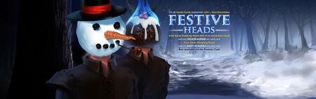 Festive Heads banner