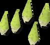 Wolf bone arrowheads detail