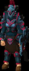 Zamorak armour set (sk) equipped