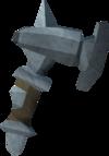 Off-hand gorgonite warhammer detail