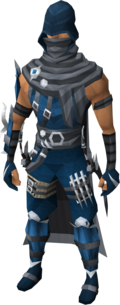 Assassin outfit equipped (male)