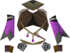 Samba top (purple, female) detail