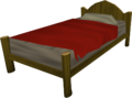 Wooden bed built