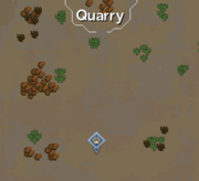 Desert Quarry Hunter area map