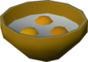 Uncooked egg detail