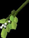 Festive mistletoe detail