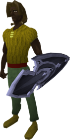 Mithril kiteshield equipped