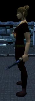 Off-hand argonite dagger equipped