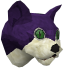 Overgrown cat (purple) chathead
