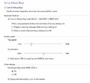 Mouse Keys Setup- Windows 7