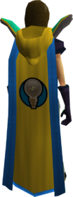 Retro hooded invention cape (t) equipped