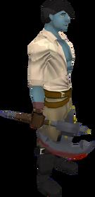 Gud raider axe equipped