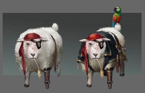 Pirate Sheep concept art