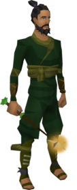 Christmas wand equipped