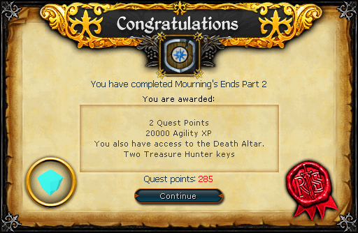 Mourning's End Part II reward