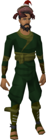 Salty claws hat equipped