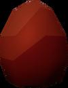 Red dragon egg detail