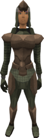 Subleather armour (female) equipped
