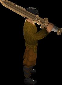 Bronze 2h sword equipped