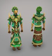 Elven city magic warrior model art