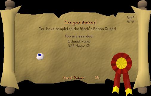 Witch's Potion reward