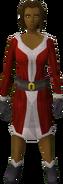 Santa costume (female) equipped