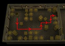 A Void Dance Barrel puzzle