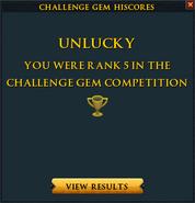Challenge gem lose interface