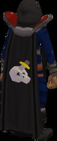 Retro slayer cape equipped