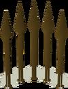 Bronze bolts detail