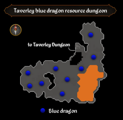 Taverley blue dragon resource dungeon map