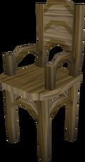 Teak armchair built