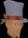 Top hat (white) chathead