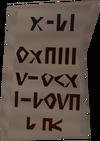 Letter (Creature of Fenkenstrain) detail