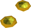 Theatrical earrings (yellow) detail