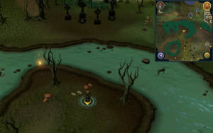 Scan clue Haunted Woods south-west of musician