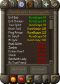 Friends List interface old3